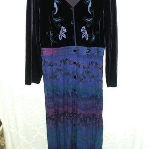Carole Little long purple dress 14